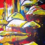 Elfenbankjes, acryl op doek, 100 x 120 cm              Adrienne van Wartum