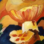 Paddenstoelen, acryl op doek, 100 x 120 cm -verkocht-Adrienne van Wartum