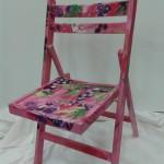 Beschilderd klapstoeltje, geheel naar uw wensen te verwezenlijken Adrienne van Wartum