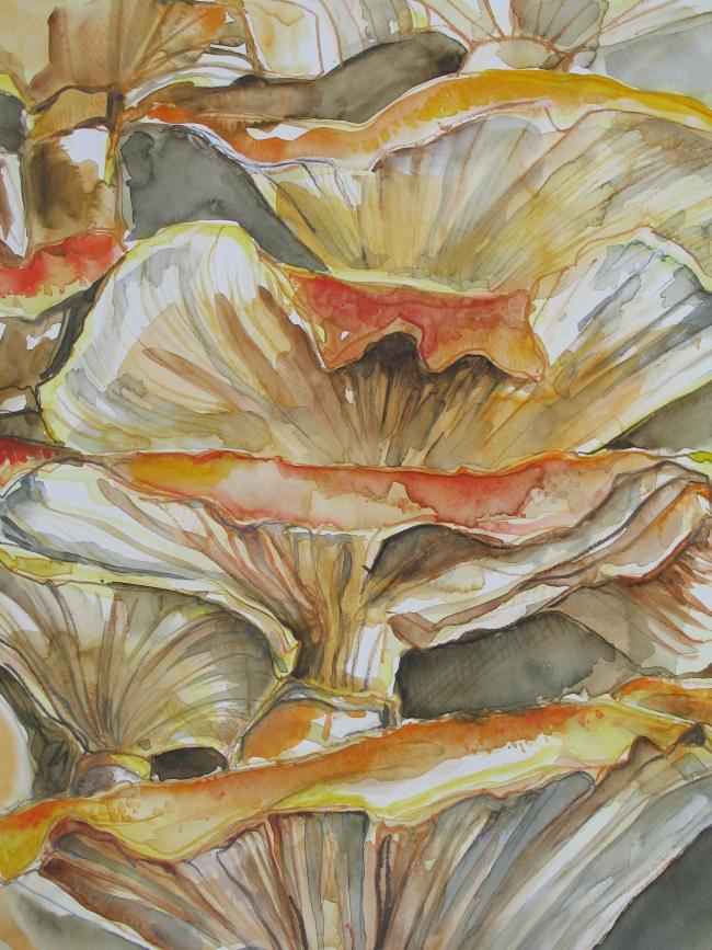 Gezwam, aquarel op papier, 60 x 80 cm               Adrienne van Wartum