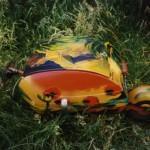 Motoraanhangertje beschilderd -verkocht-   Adrienne van Wartum