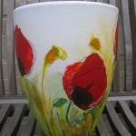 vaas of bloempot beschilderen Adrienne van Wartum